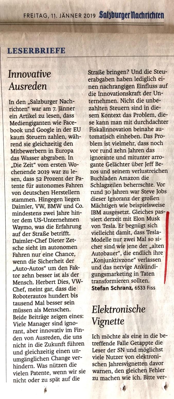 salzburger nachrichten-ausreden-tesla-20190111b